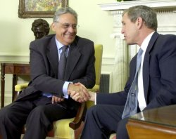 Bush Meets With Brazillian President Cardoso