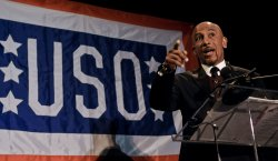 Montel Williams speaks at the USO 28th Annual Awards Dinner in Arlington, Virginia