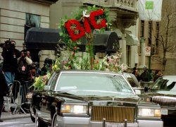 Funeral rapper Notorious B.I.G.- Christopher Wallace