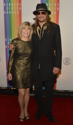 Musician Kid Rock and mother arrive for Kennedy Center Honors Gala in Washington DC