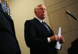 Rep. Steny Hoyer (D-MD) speaks on the budget negotiations in Washington