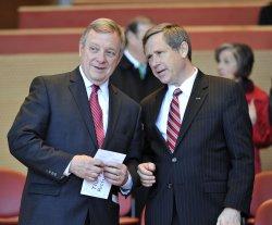 Senators Durbin and Kirk talk at inaugural Chicago