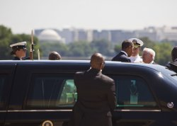 Obama Attends Secretary Gates' Farewell Ceremony at the Pentagon