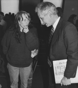 Daniel Ellsberg and Amy Carter in Hampshire Courthouse