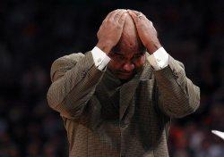 Georgetown Hoyas head coach John Thompson III at the NCAA Big East Men's Basketball Championships in New York