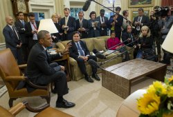 President Obama Meets with Ebola Coordinator Klain at White House