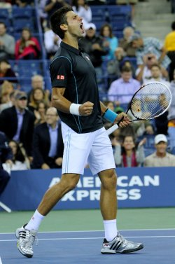 Novak Djokovic defeats Mikhail Youzhny in quarterfinals match at the U.S. Open in New York