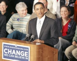 Democratic presidential candidate Sen. Barack Obama campaigns in Pennsylvania