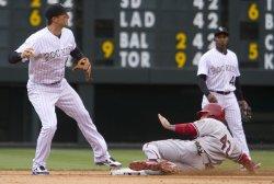 Diamondbacks Hill Breaks Up Double Play in Denver