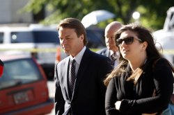 Former U.S. Senator and presidential candidate John Edwards on trial in Greensboro, North Carolina