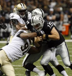 New Orleans Saints vs Oakland Raiders at the Mercedes-Benz Superdome in New Orleans