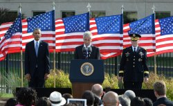 Obama Attends 9/11 Pentagon Memorial Commemoration