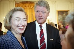 U.S. President Clinton attends signing ceremony in Washington