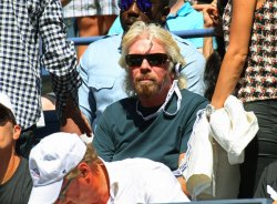 Sir Richard Branson attends the at the U.S. Open in New York