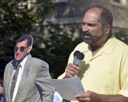 Franco Harris Speaks at Rally at Penn State University