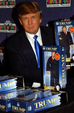 DONALD TRUMP DEBUTS HIS 12 INCH TALKING DOLL