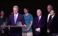 FORMER PRESIDENT CLINTON RECEIVES SEEDS OF PEACE AWARD