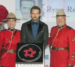 Actor Ryan Reynolds is inducted into the 2014 Canada's Walk of Fame at ceremonies in Toronto.