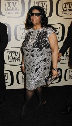 Aretha Franklin arrives for the TV Land Awards in New York