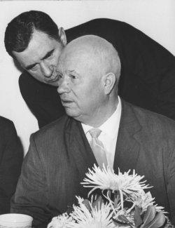 Andrei Gromyko with Soviet leader Nikita Khruschchev