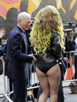 Lady Gaga at Late Show with David Letterman