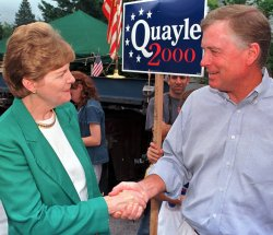 Dan Quayle in New Hampshire