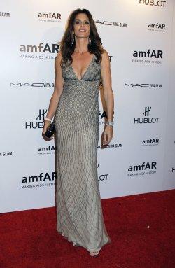 Cindy Crawford arrives for the amfAR Annual Fashion Week New York Gala in New York