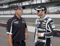 Jimmy Johnson and Chad Knaus talk before Sprint Cup qualifying