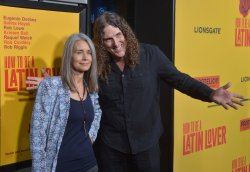 """Weird Al"" Yankovic and Suzanne Krajewski attend the ""How to Be a Latin Lover"" premiere in Los Angeles"