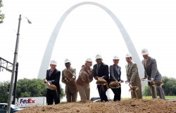 Groundbreaking for Improved Access to St. Louis Arch