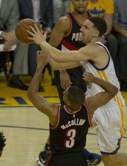 Golden State Warriors Klay Thompson drives