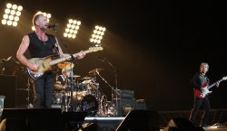 The Police in concert in Las Vegas