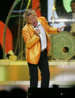 Rod Stewart performs in concert at Madison Square Garden in New York