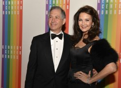Actress Lynda Carter and husband Robert Altmanl arrive for Kennedy Center Honors Gala in Washington DC