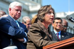 House Democrats hold a rally in support of jobs in Washington