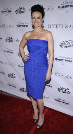 "Carla Gugino attends the premiere of ""The Mighty Macs"" in Los Angeles"
