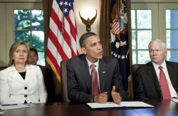 President Obama attends cabinet meeting at White House
