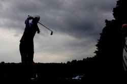 Meena Lee in the third round of the Wegmans LPGA Championship at Locust Hill Country Club in New York