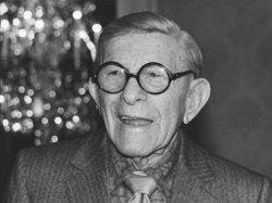 George Burns donates million dollars to Cedars-Sinai Hospital in Los Angeles