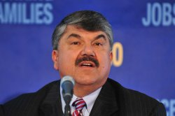 AFL-CIO President Richard Trumka speaks in Washington