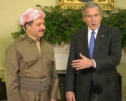 PRESIDENT BUSH MEETS WITH KURDISAN'S REGIONAL PRESIDENT BARZANI