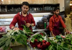 Palestinians Celebrate Valentine's Day In Bethlehem, West Bank