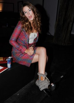 Joss Stone at Vivienne Westwood catwalk show at London Fashion Week
