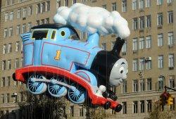 Thomas Train Balloon balloon at Thanksgiving Parade