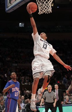 Connecticut Huskies Shabazz Napier at the NCAA Big East Men's Basketball Championships in New York