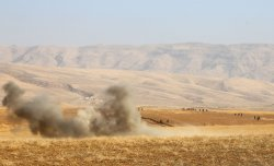 The Kurdish and Iraqi Forces Attack Islamic State Militants in Mosul