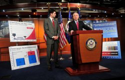 House Budget Committee Chairman Paul Ryan speaks on President Obama proposed budget in Washington