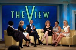 U.S. President Obama visits The View TV show in New York