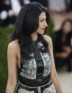 Huma Abedin at the Met Costume Institute Benefit