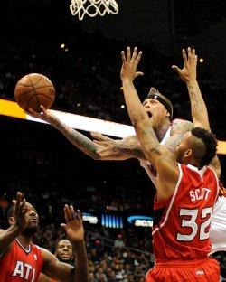 The Atlanta Hawks play the Miami Heat in Atlanta